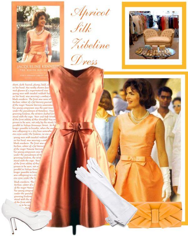Jackie: Apricot Silk Zibeline Dress in 2019 | amazing