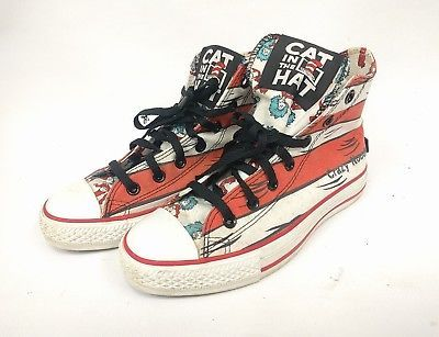6da02033d31 Dr. Seuss Cat in The Hat Converse ALL STAR Special Edition High Tops sz 5 M  7 W