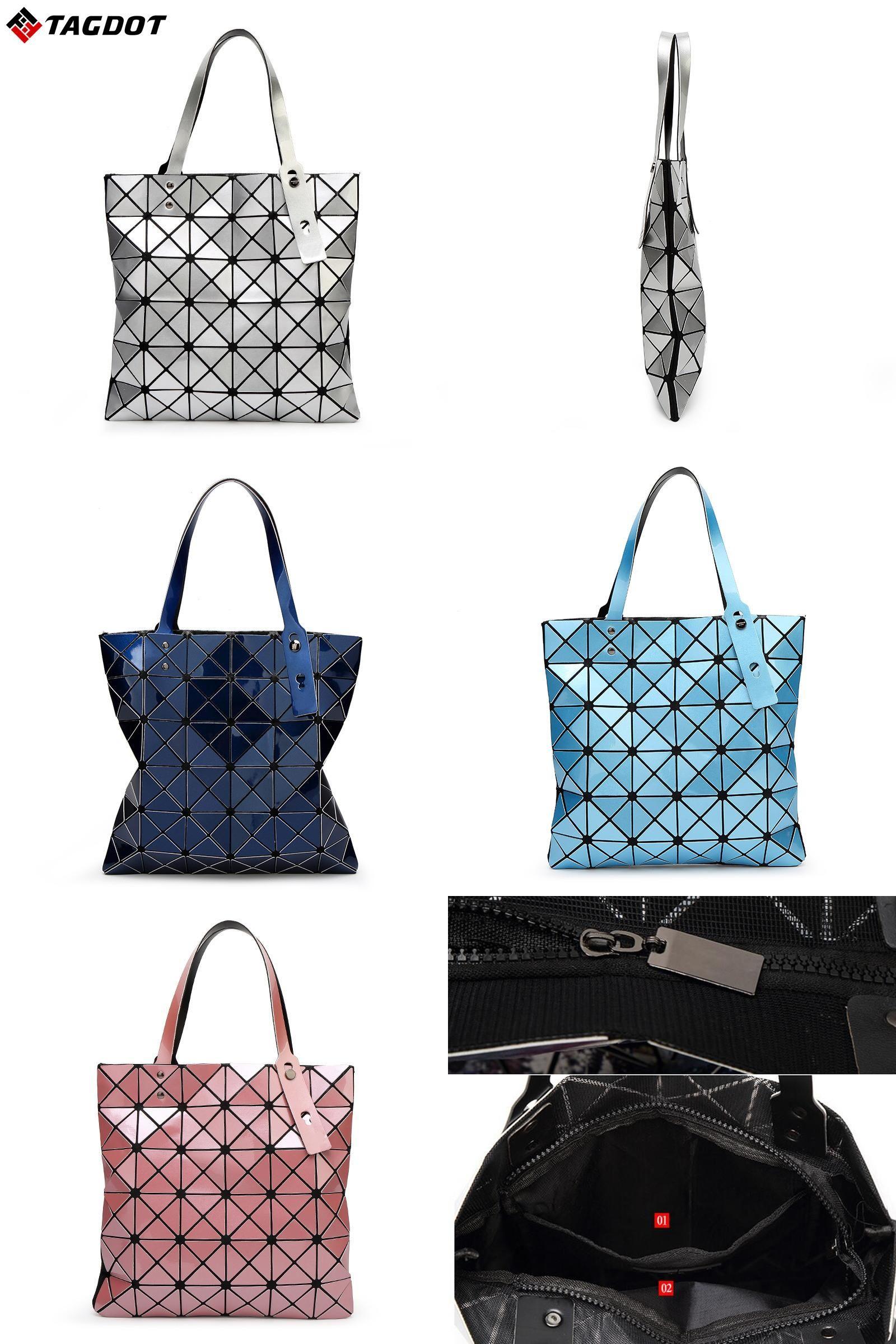 3d8baabb27  Visit to Buy  With Logo New Women BAOBAO Bag Geometry Package Sequins  Mirror Saser