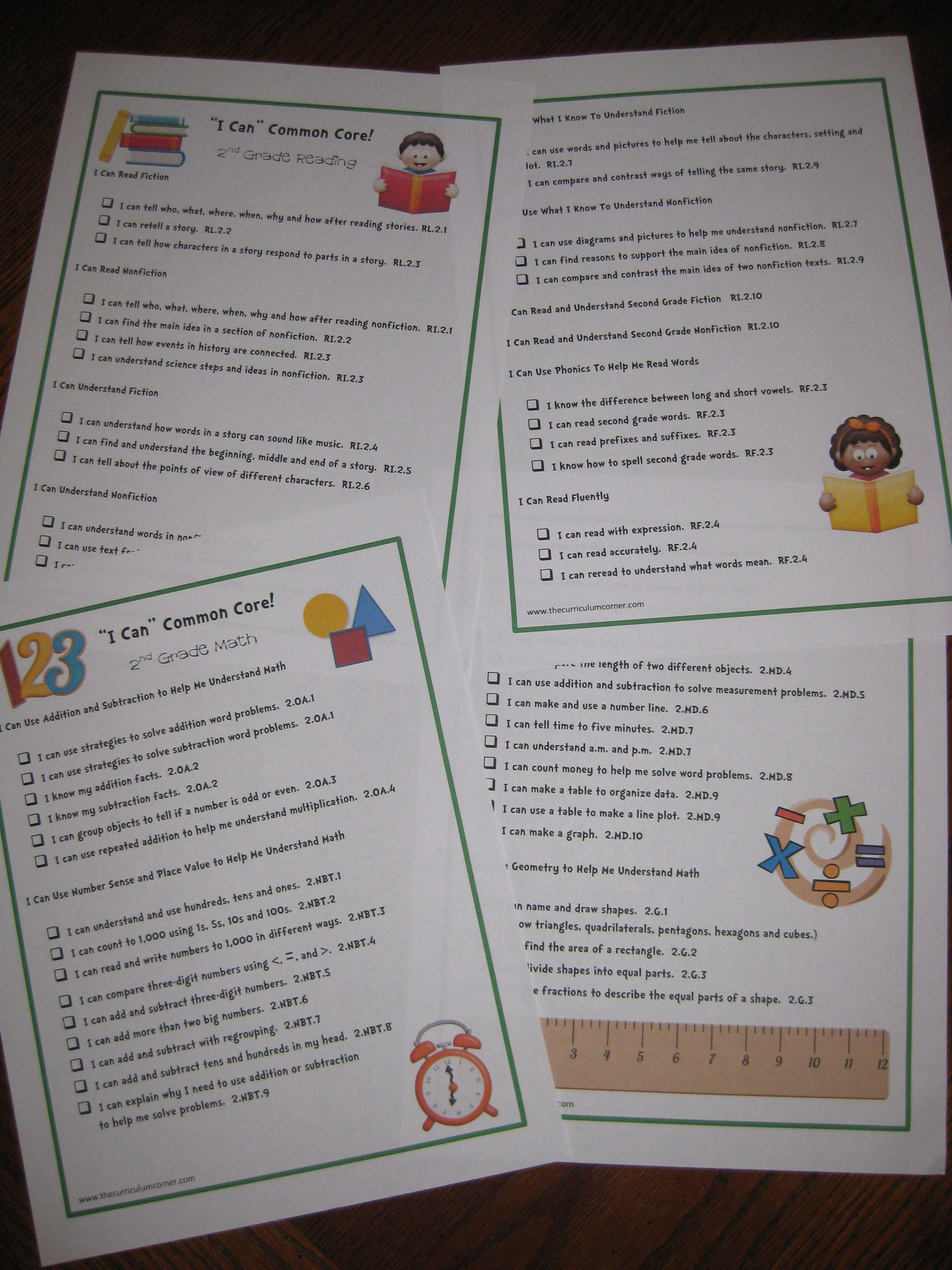 letter format friendly%0A Common Core in a kid parent friendly format  This shows what they need to  know for all grades
