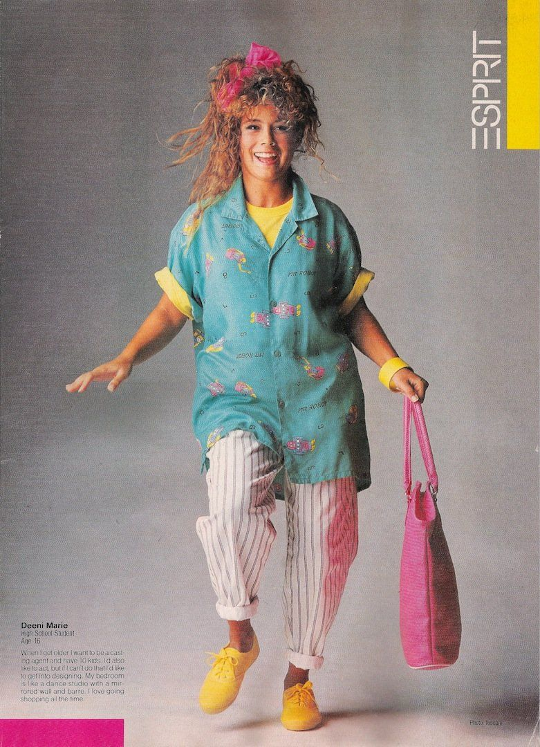 The Boldest Fashion Trend the Year You Were Born   Neon glow, Neon ...