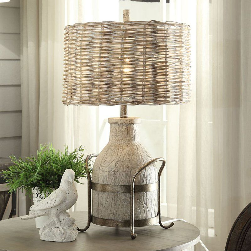 31 Inch Dairy Farm Table Lamp With Iron Accent Farmhouse Table Lamps Farmhouse Lamps Table Lamp