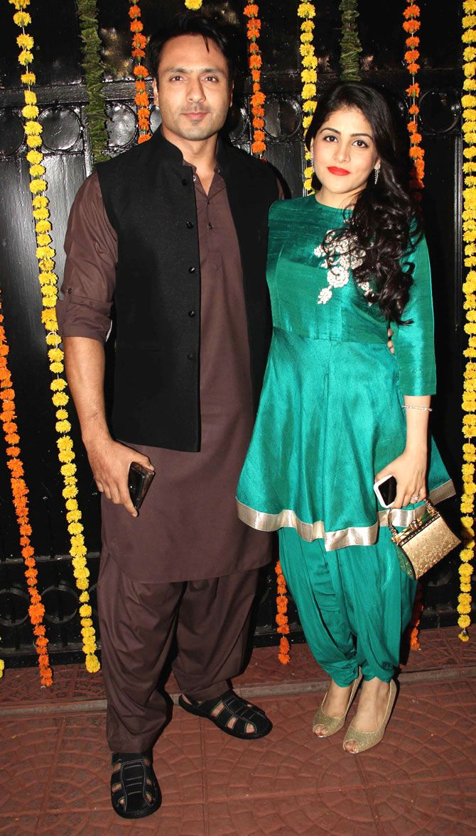 Iqbal Khan with wife Sneha Chhabra at Ekta Kapoor\'s #Diwali bash ...