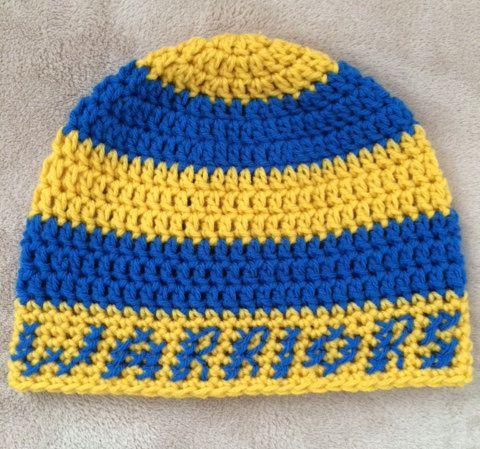 636e62d38544b6 Golden State Warriors inspired Beanie Hat by CrochetMagazin | Fog ...