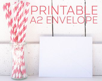 Printable Envelope Template A Greeting Card Envelope  Fun Snail