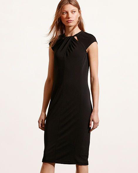 Cutout-Neckline Jersey Dress - Lauren Short - RalphLauren.com