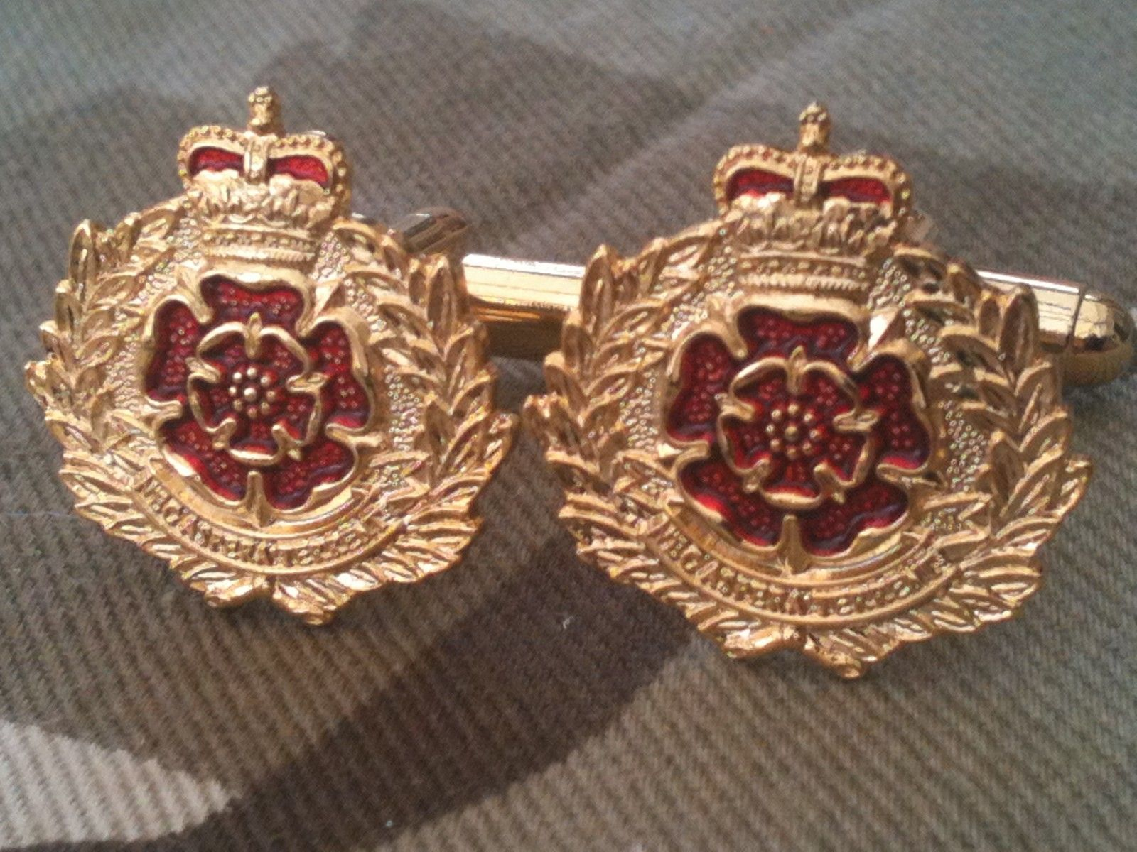 Royal Artillery Regiment Military England Flag Cufflinks