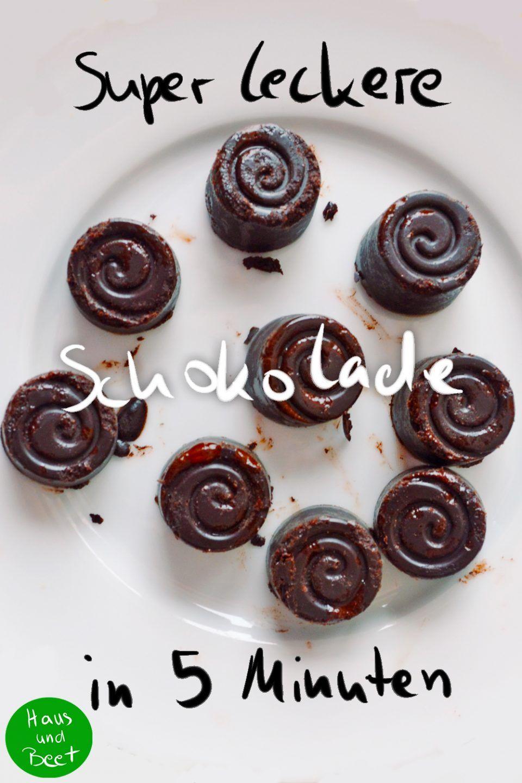 Schokolade selber machen – Mit nur 3 Zutaten! - Haus und Beet
