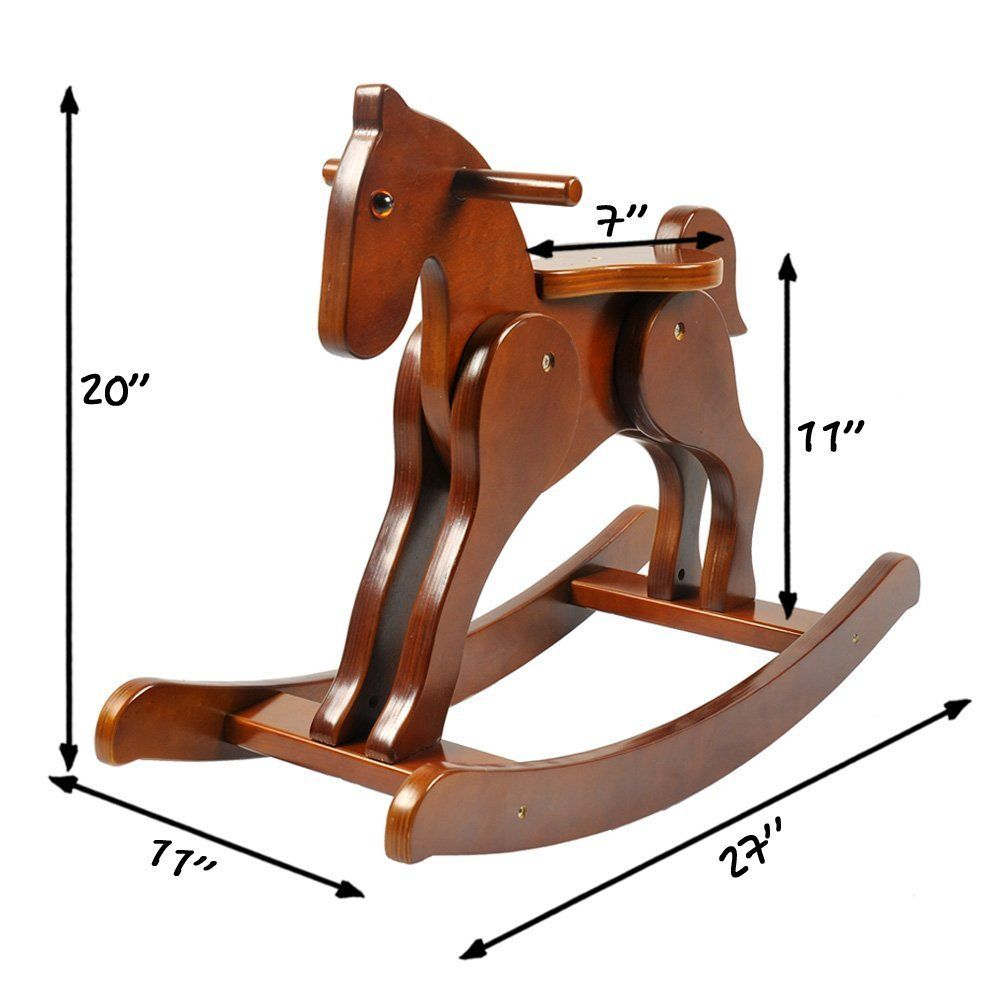 Labebe Child Rocking Horse Wooden Rocking Horse Toy Brown Rocking Horse For Kid 13 Year Wooden Rocking Horse Wood Rocking Horse Rocking Horse Woodworking Plans