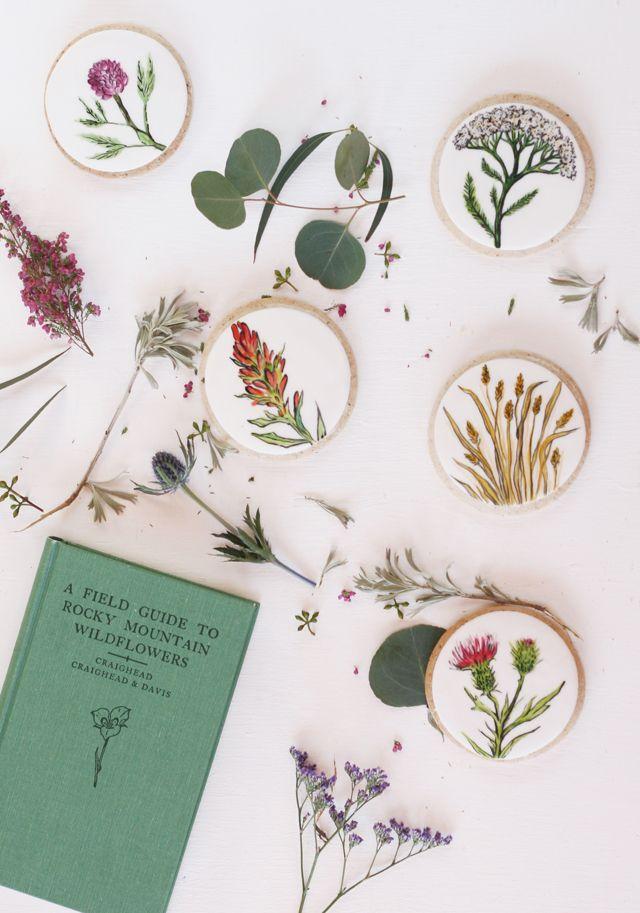 DIY Watercolor Cookies - Everything Golden Blog