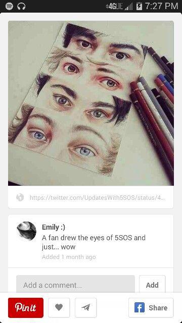 5sos eye drawing