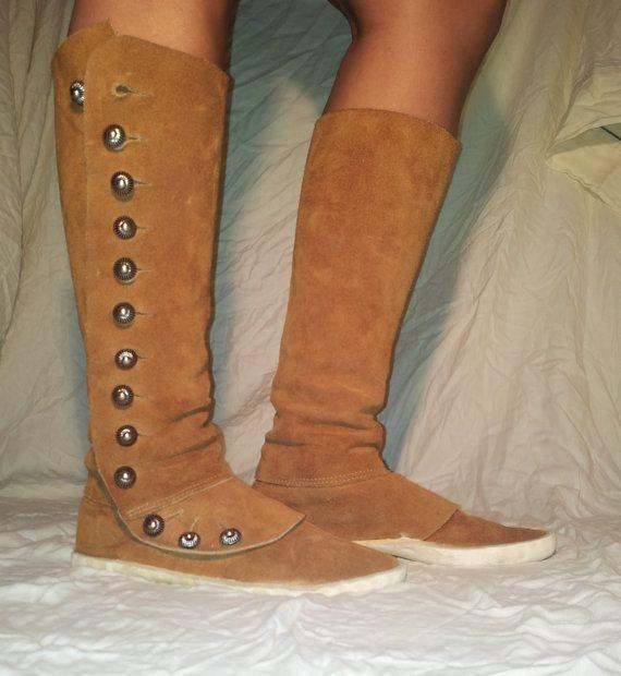 3f1484d97e469 Navajo Boots | Vintage Kéłchí Navajo Style Moccasin Boots by ...