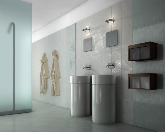 Kombination-keramische-Fliesen-Glas-Duschabtrennung-modernes-bad - gardinen für badezimmer