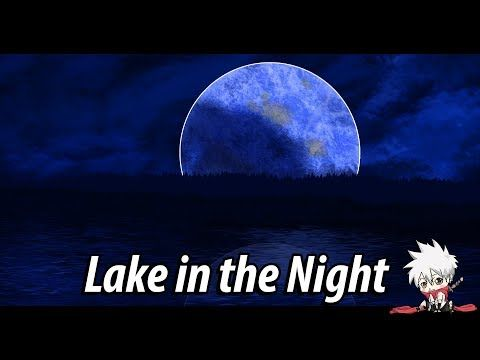 a lake in the night speedpainta a daily drawing 14a digital drawing painting timelapse youtube