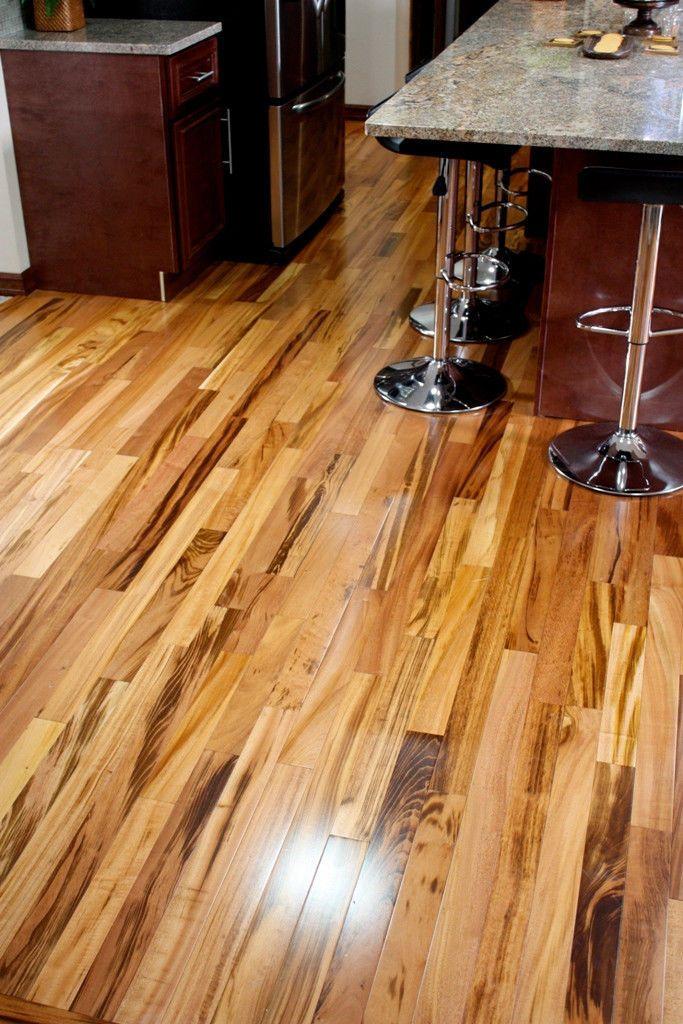 4 Clear Prefinished Solid Brazilian Tigerwood Koa Wood Hardwood Flooring Sample Tigerwood Flooring Hardwood Floors Flooring
