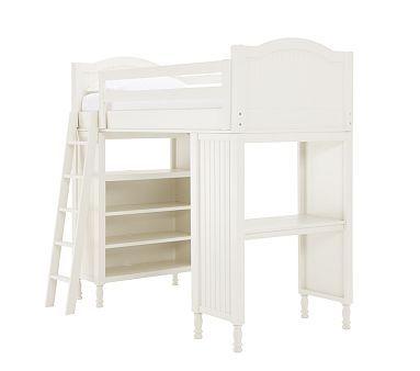 Jack S New Room Loft Bed Desk Book Shelf Pottery Barn Kids