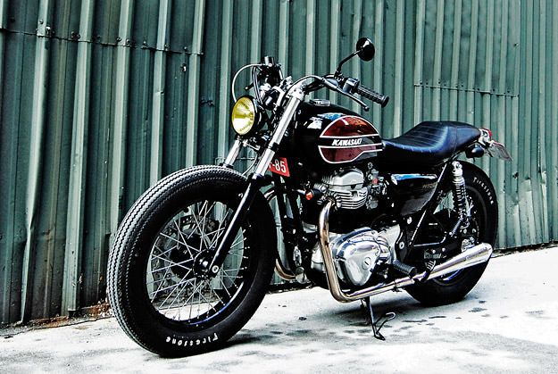going with the flow: kawasaki w650clutch   custom motorcycles