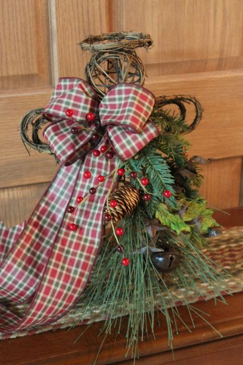 Primitive Christmas Tree Topper Table Top by FloralsFromHome, $65.00 - Primitive Christmas Tree Topper Table Top By FloralsFromHome, $65.00