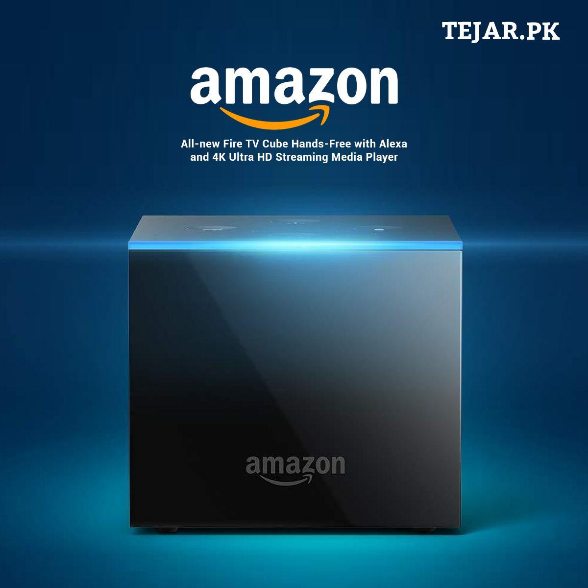 Amazon allnew fire tv cube handsfree with alexa and 4k