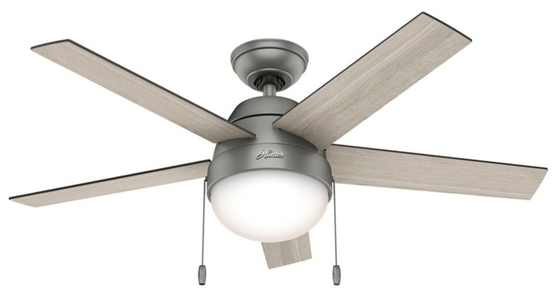 From The Ceiling All The Way Down To The Glass The Anslee Maintains A Consistent Curve Resembling A Refre Ceiling Fan With Light Fan Light Hunter Ceiling Fans