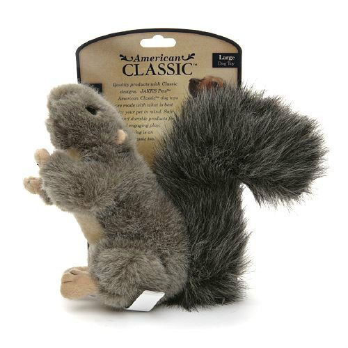 Jakks Pets American Classic Plush Squirrel Dog Toy Small Or Large