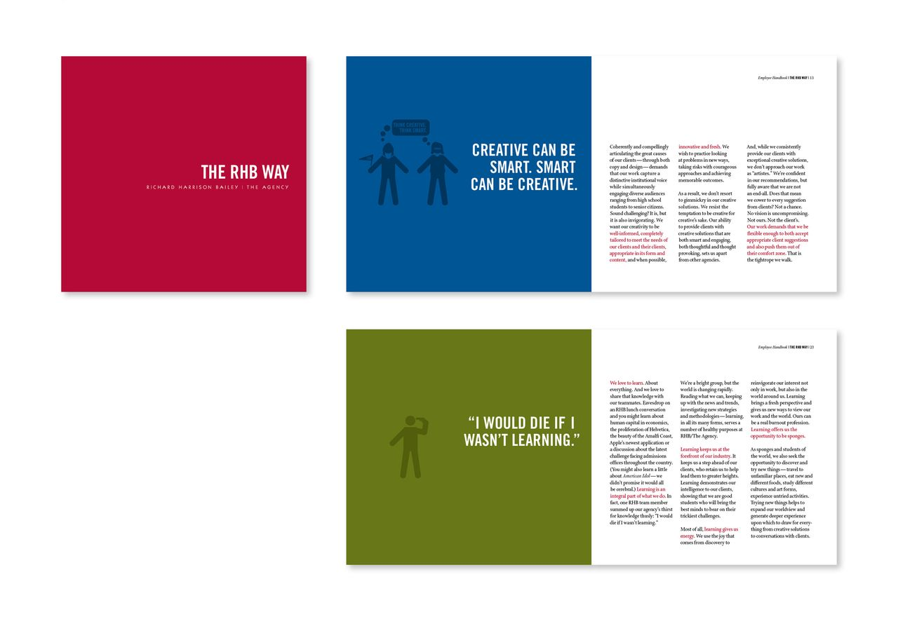 emphasis within text employee handbook design pinterest