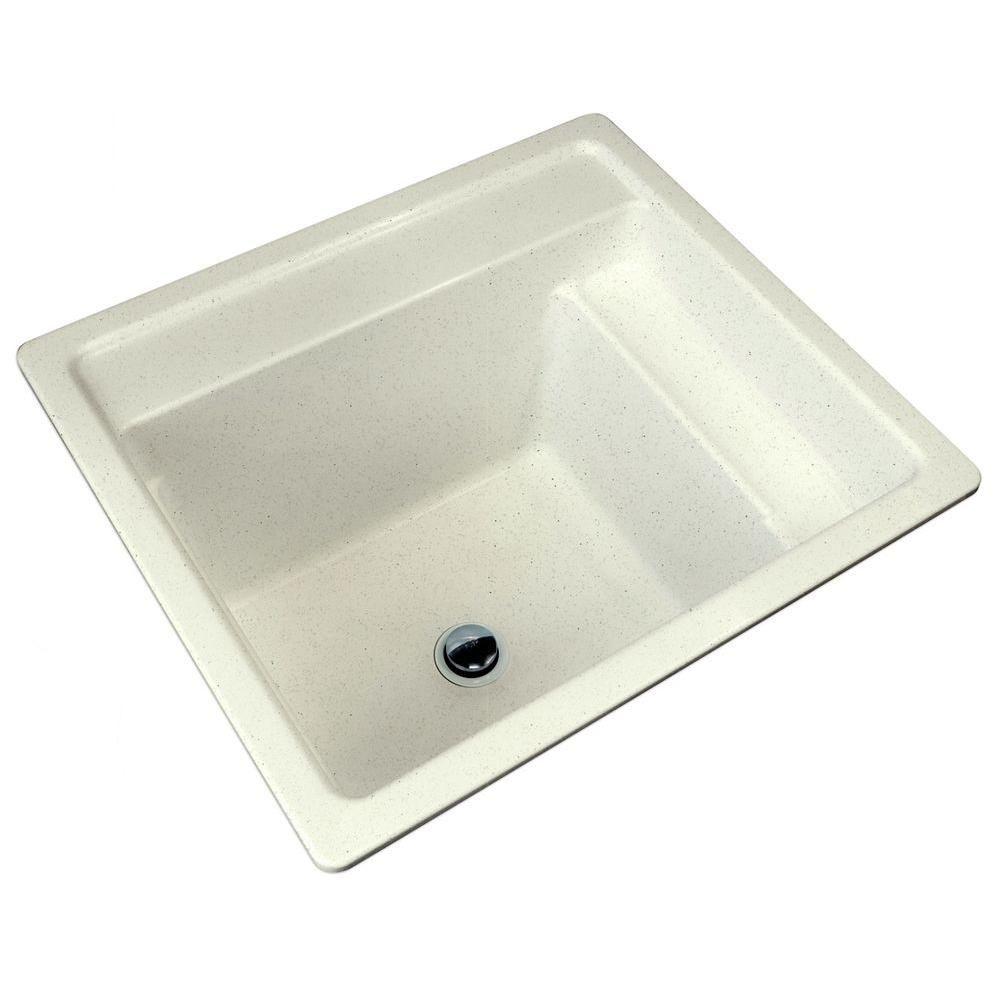 MUSTEE Vector 22 in. x 25 in. Fiberglass Self-Rimming MultiTask Sink in Prairie Drift-25PD - The Home Depot