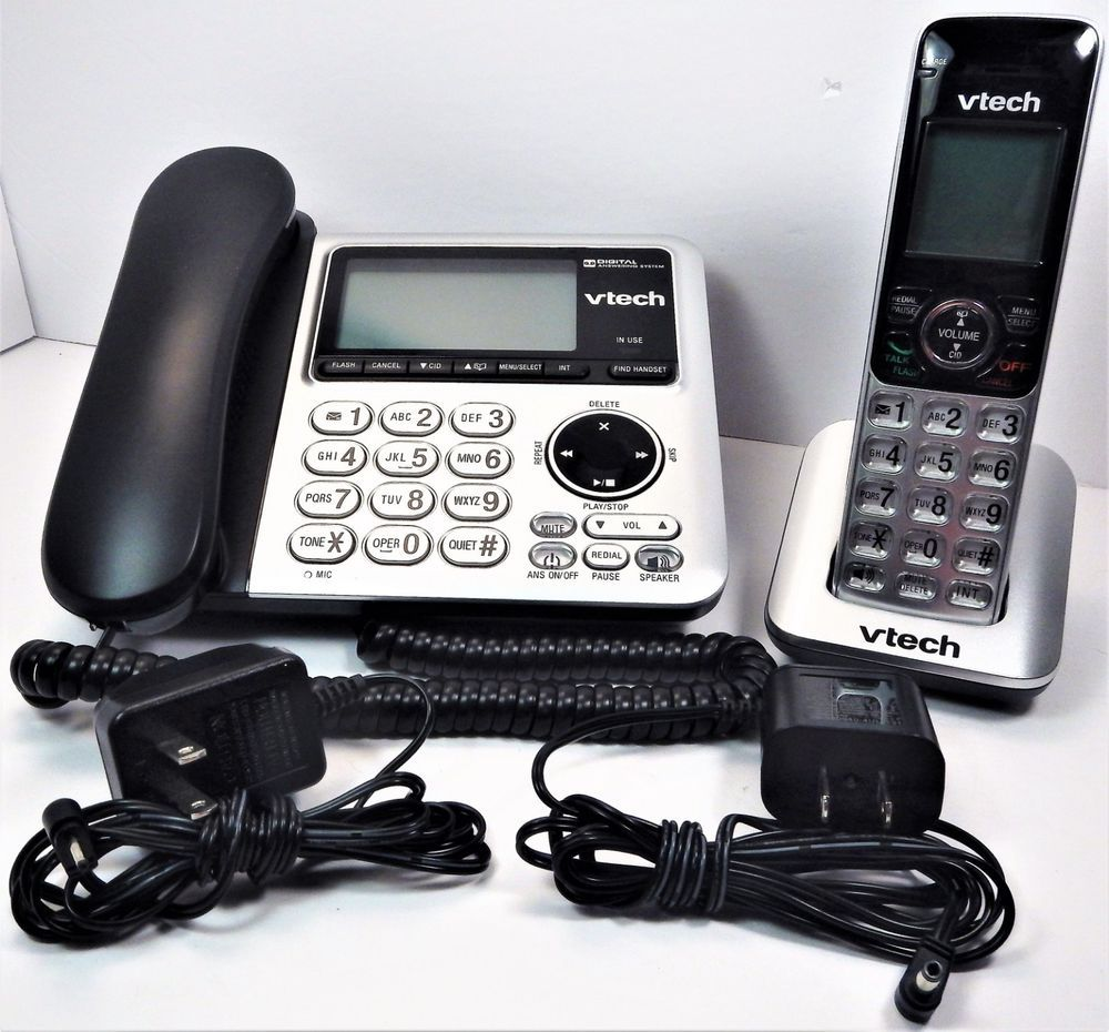 Vtech Cs6649 Corded Cordless Dect 6 0 Phone Answering Machine W 2
