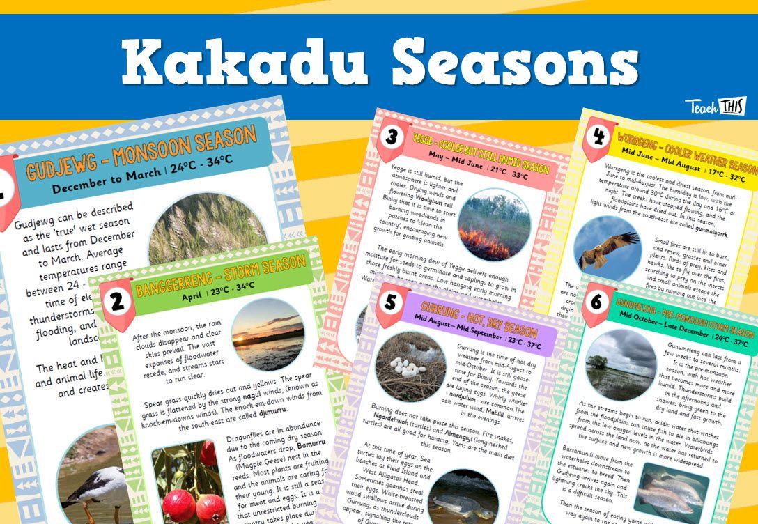 Kakadu Seasons Seasons Activities Classroom Games Teacher Resources