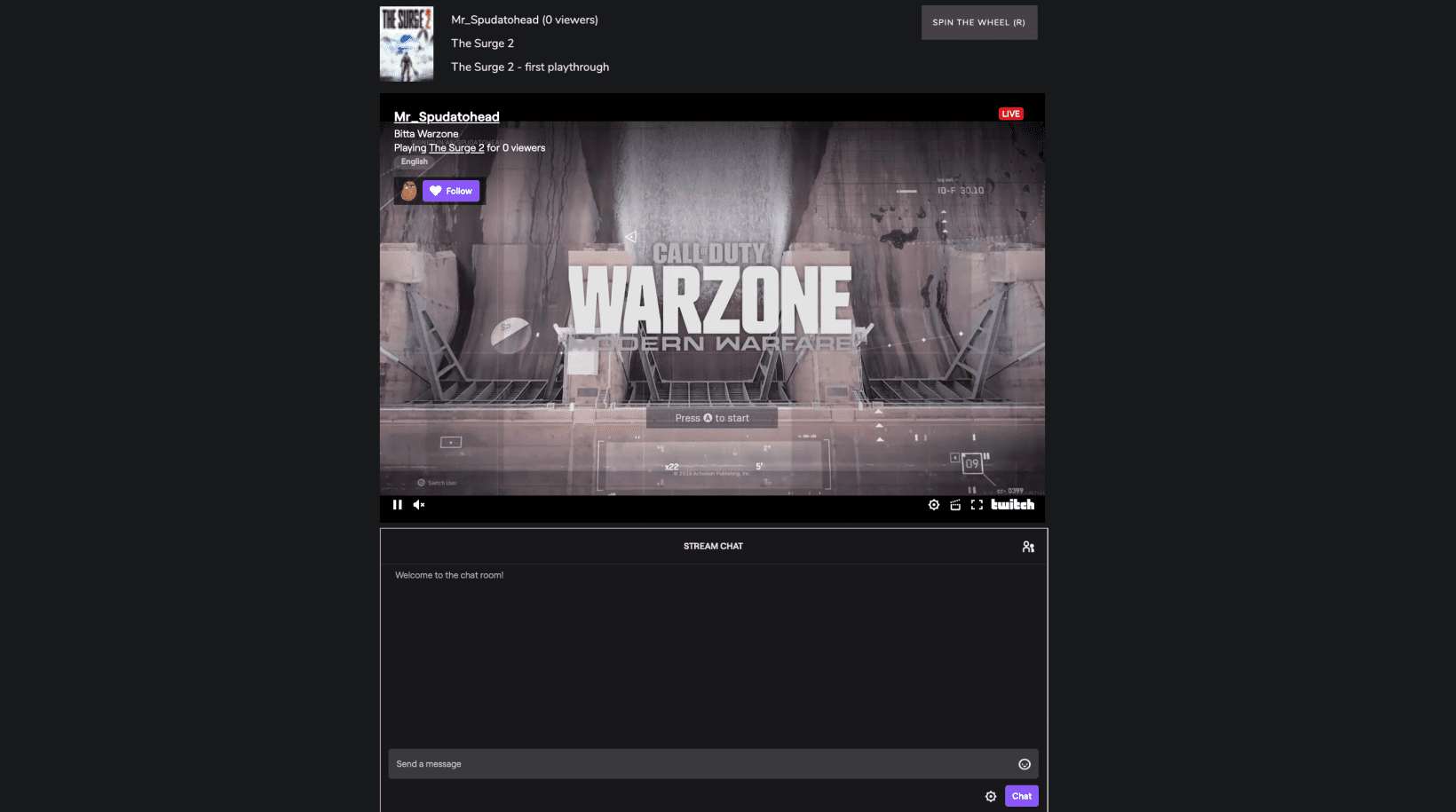 Twitch Roulette connects you with random streamers nobody