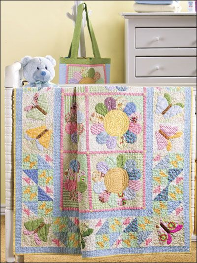 Butterfly Hoedown Quilt & Tote Pattern Download from e