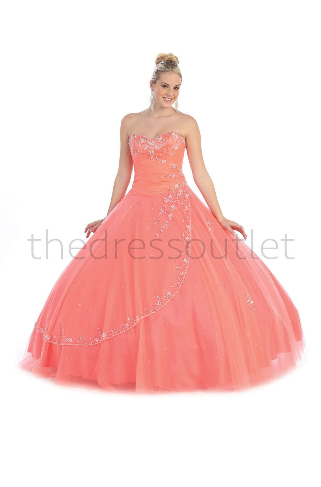 Quinceanera Long Ball Gown Sweet 16 Dress 2018 | Bodas de invierno ...
