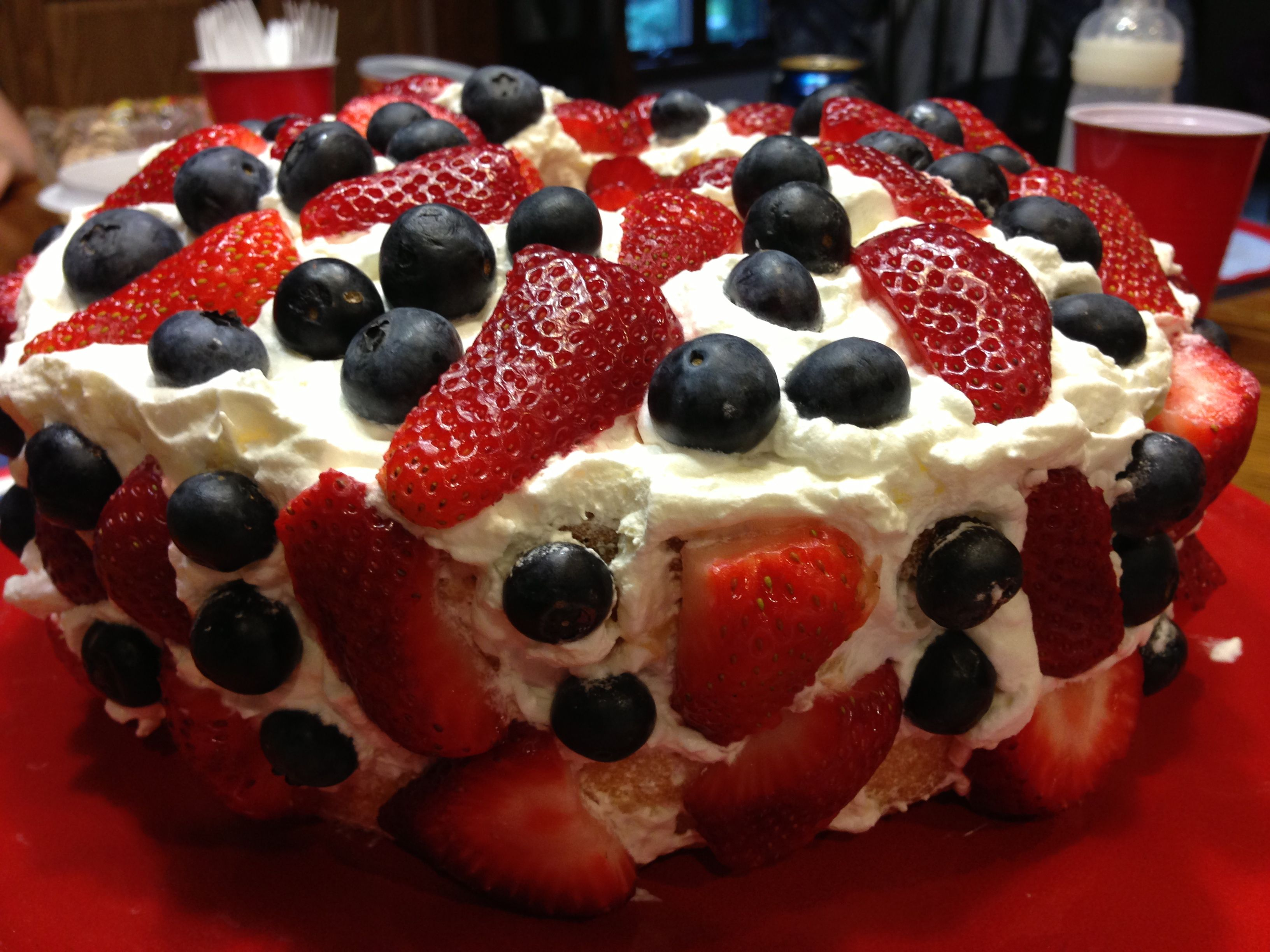 Blueberry cool whip cake