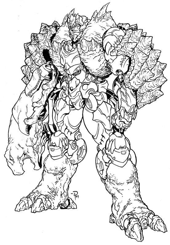 Beast Wars Future Megatoran Coloring Books Transformers Artwork Transformers Drawing