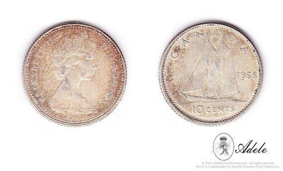 1966 Silver Canadian Dimes 10 Cent Elizabeth I I Dei Gratia Regina Set Of 2 Coin Collectors Stamp Collecting Etsy Vintage