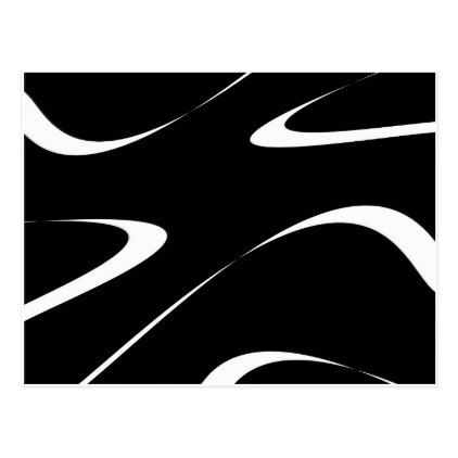 Abstract Pattern  Black And White Postcard  Holiday Card Diy