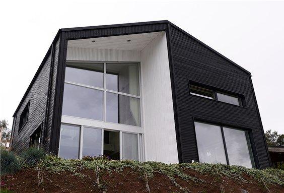 Passive house Talgje. Architect: Ratio arkitekter.
