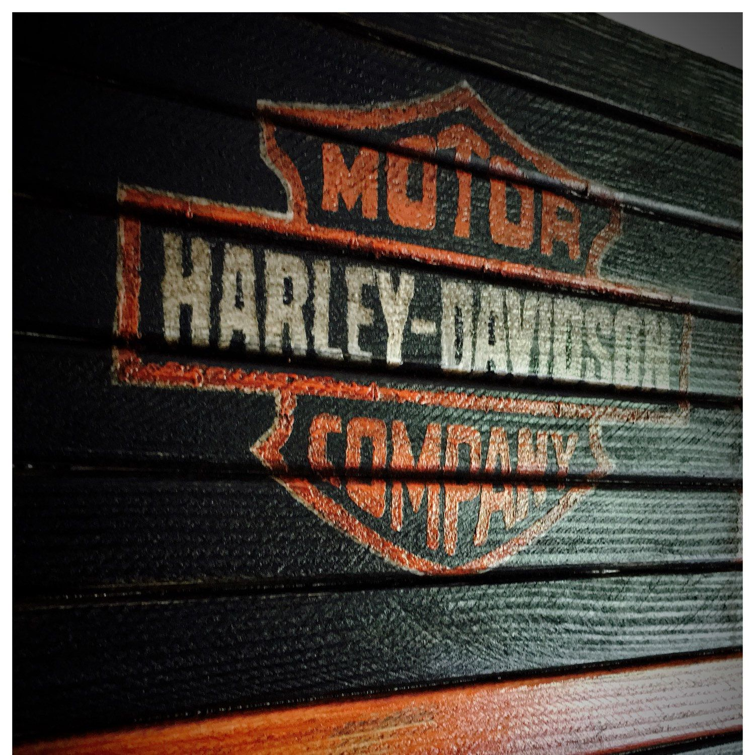 Just recently added this Harley Davidson flag sign Have had many requests to make this