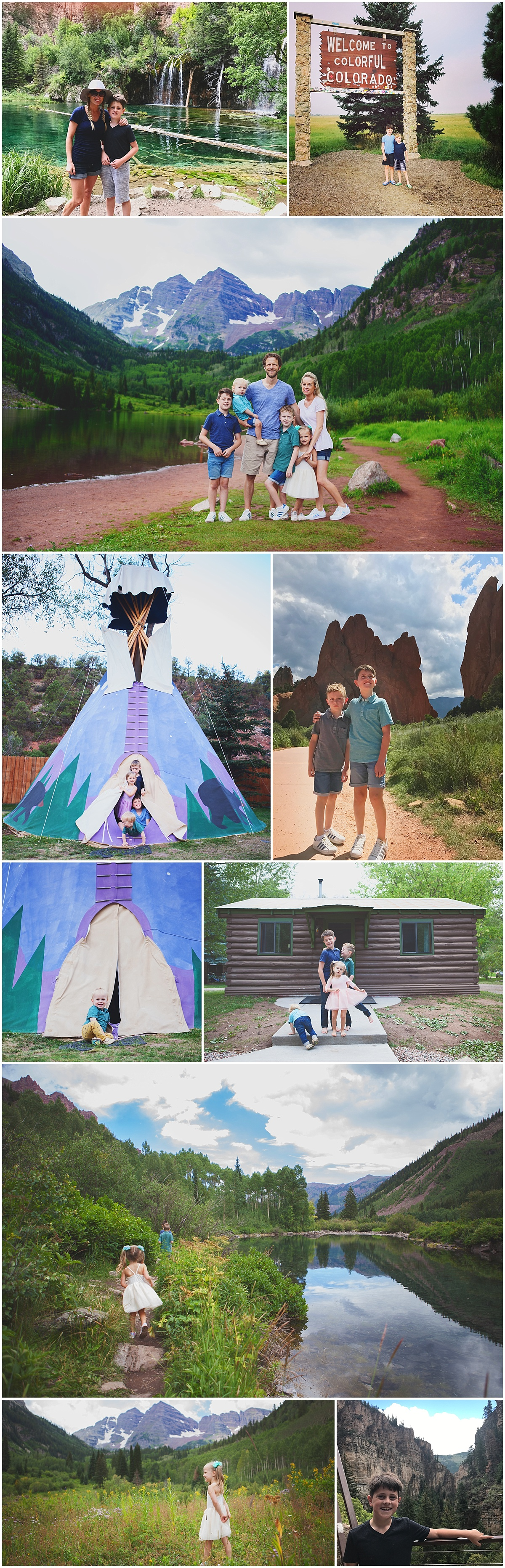 family photos what to wear road trip with kids colorado road