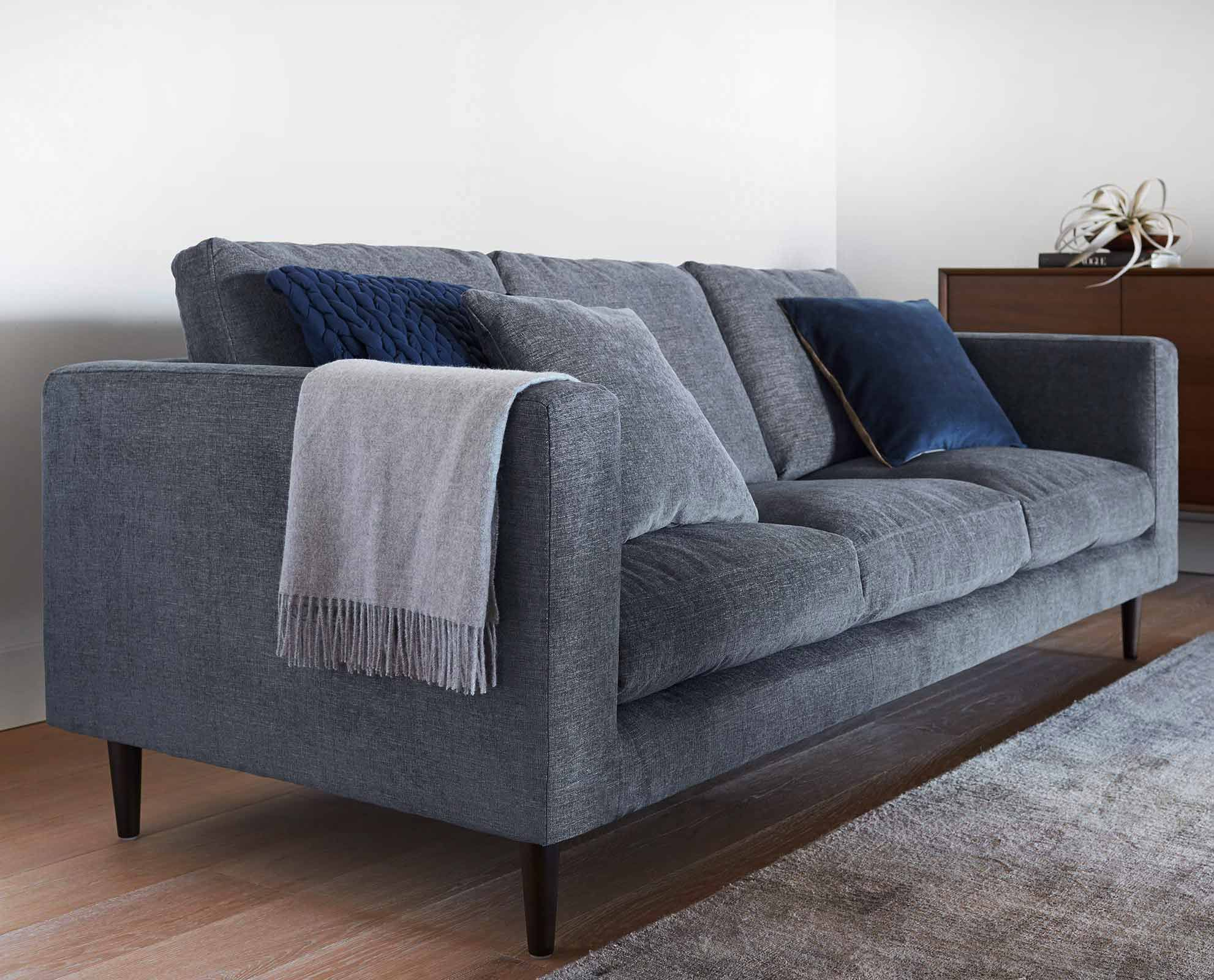 Dania The Hagen sofa offers refined mid century modern style