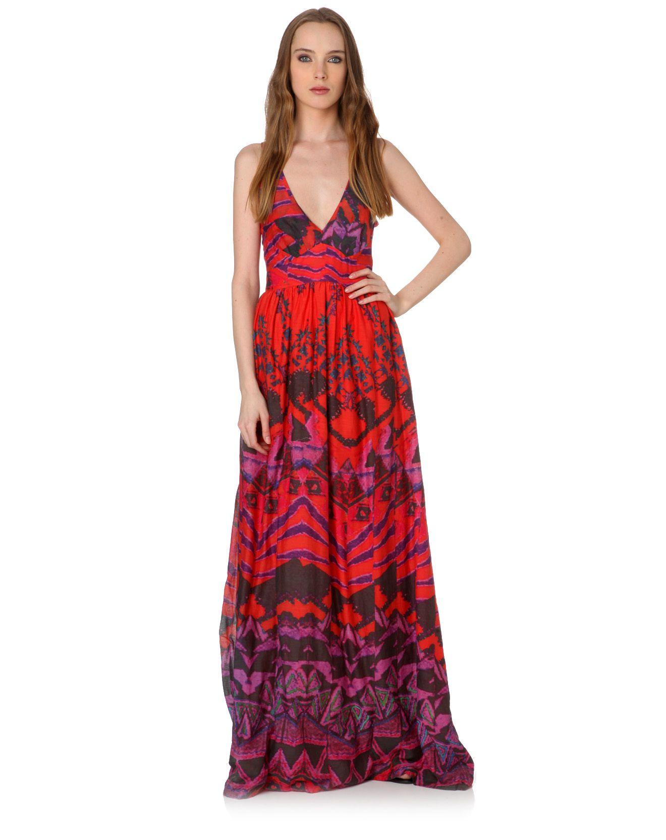 Vente Antik Batik sur Bazarchic ! #robes #tops #jupes #shorts #accessoires #enfants  ROBE LONGUE COTON & SOIE OPYLA ROUGE