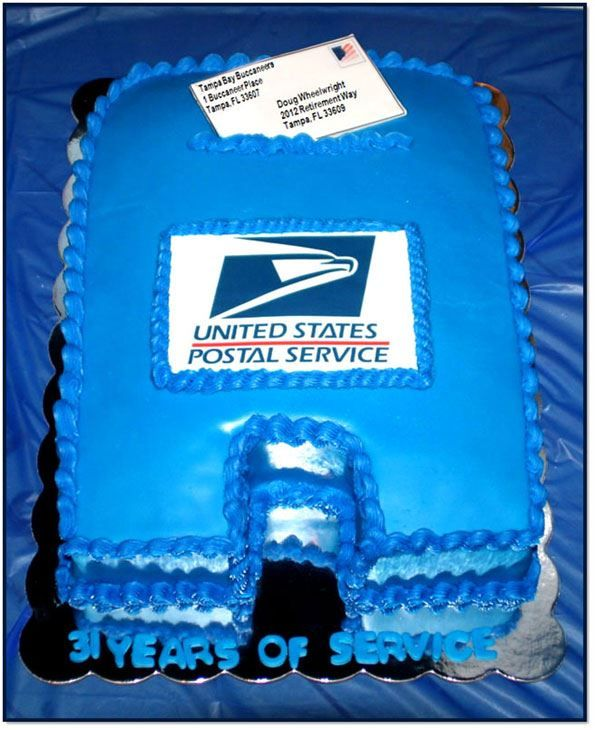 USPS Retirement Cake Made By Pink Pig Bakery, Orlando, FL