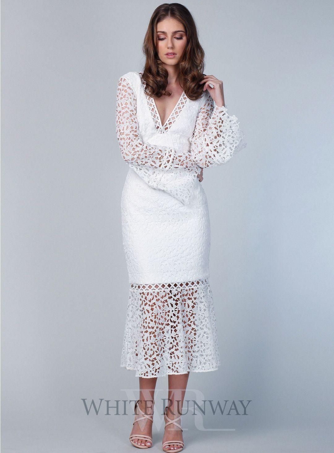 Uplifted Long Sleeve Midi Dress Long Sleeve Midi Dress White Dress Dresses [ 1464 x 1080 Pixel ]