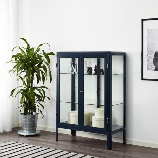 Elegant Ikea Klingsbo Glass Display Cabinet