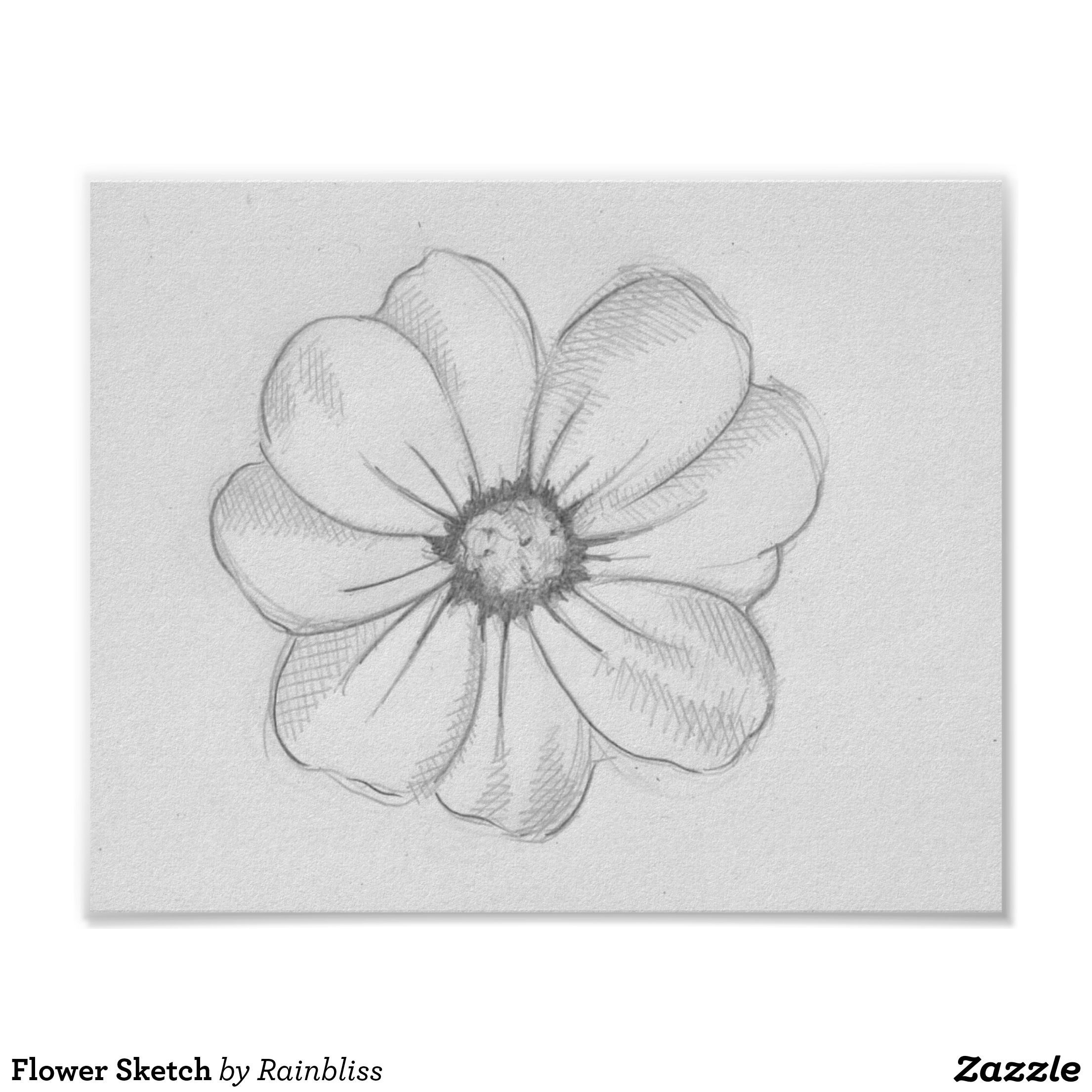 Drawings Ideas Flower Sketch Poster Sketch Of A Flower In 2020
