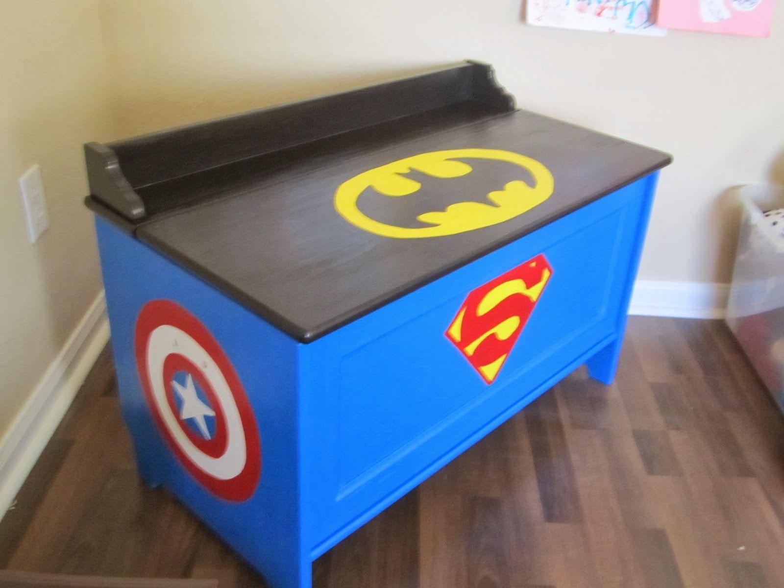 Superhero Toy Box Superhero Room Superhero Toy Box Batman Room