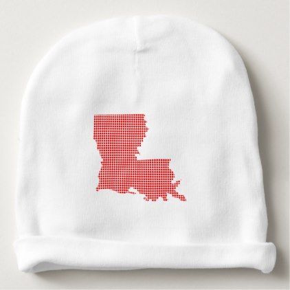 Red Dot Map of Louisiana Baby Beanie | Zazzle.com in 2019 | baby ...