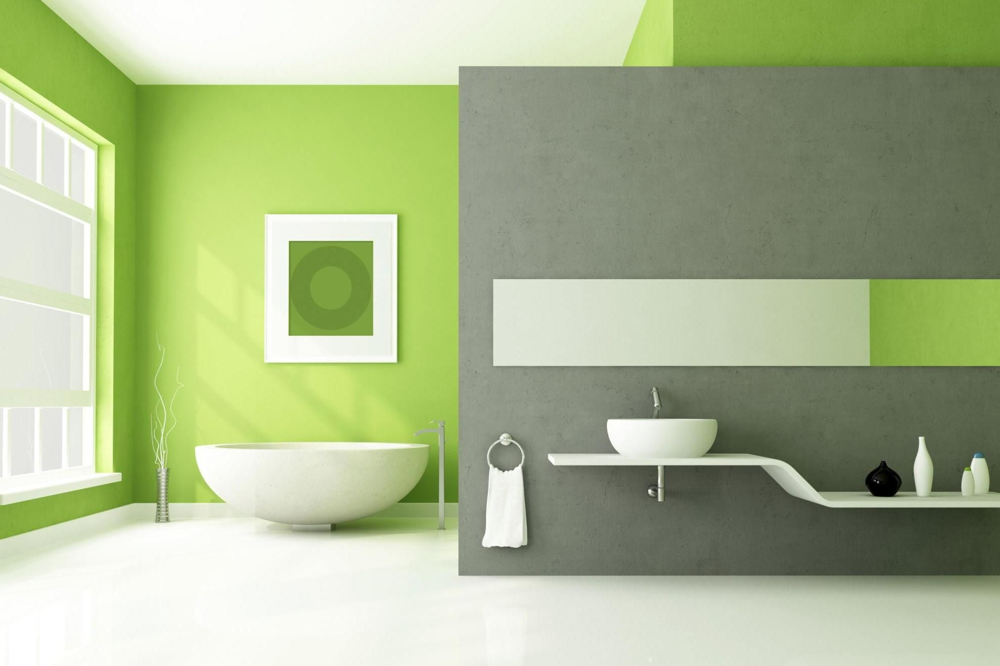 Green Bathroom Fresh Bathroom Green Paint Color Scheme Interior With Round Light Green Bathroom Ideas Green Bathroom Bathroom Green Bathroom Flooring
