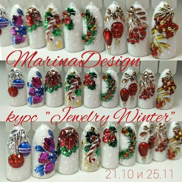20 festive christmas nail art ideas