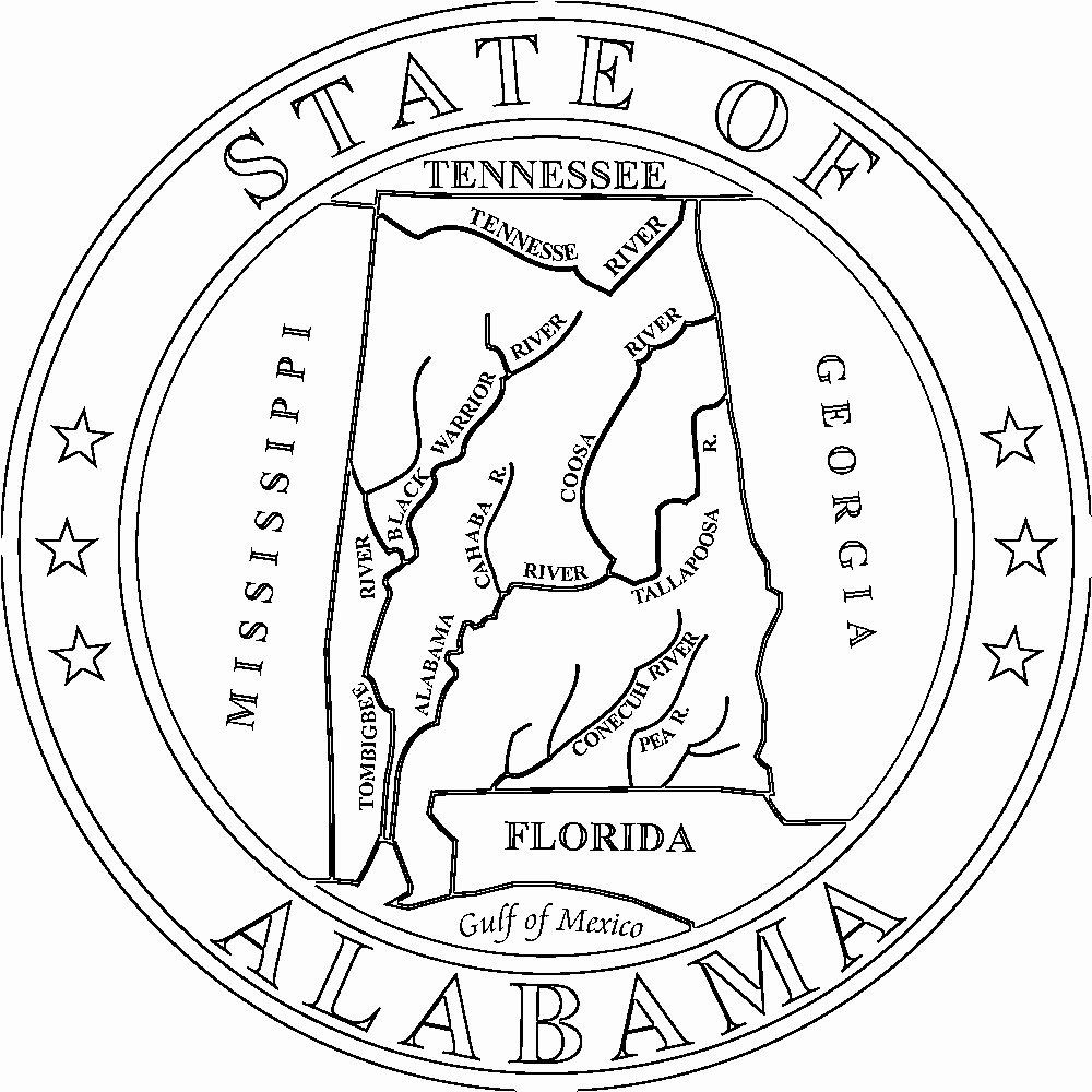 Alabama State Flag Coloring Page Unique Alabama Flags Emblems